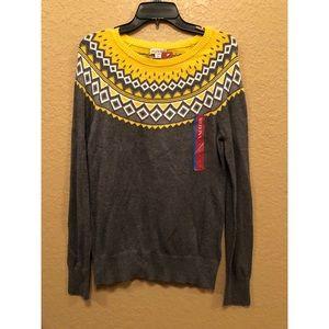 Grey/Yellow Detail Sweater